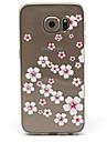 Kılıf Na Samsung Galaxy Samsung Galaxy Etui Stras Przezroczyste Czarne etui Kwiaty TPU na S6