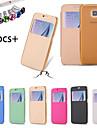 Kılıf Na Samsung Galaxy S6 Z okienkiem / Flip Pełne etui Solidne kolory Skóra PU