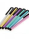 6 x uniwersalny metalowy rysik pojemnościowy ekran dotykowy klips długopis dla iphone / ipad / samsung tablet telefon komórkowy