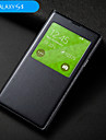 Kılıf Na Samsung Galaxy Samsung Galaxy Etui Z okienkiem Auto uśpienie / włączenie Flip Pełne etui Jendolity kolor Skóra PU na S5