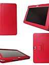 Kılıf Na Tab S 8.4 / Samsung Galaxy / Tab S2 8.0 Samsung Galaxy Etui Z podpórką / Flip Pełne etui Solidne kolory Skóra PU na Tab 4 10.1 / Tab 4 8.0 / Tab 4 7.0