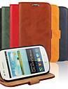 Kılıf Na Samsung Galaxy S3 Mini Portfel / Etui na karty / Z podpórką Pełne etui Solidne kolory Skóra PU