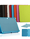 DE JI Kılıf Na Samsung Galaxy Samsung Galaxy Etui Z podpórką / Flip / Origami Pełne etui Solidne kolory Skóra PU na Tab 4 10.1