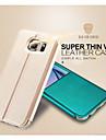 Kılıf Na Samsung Galaxy S6 Z podpórką / Z okienkiem / Flip Pełne etui Solidne kolory Skóra PU