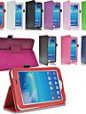 Na Samsung Galaxy Etui Z podpórką / Flip Kılıf Futerał Kılıf Jeden kolor Skóra PU Samsung Tab 3 10.1 / Tab 3 7.0