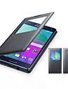 Kılıf Na Samsung Galaxy Samsung Galaxy Etui Z okienkiem Flip Pełne etui Solid Color Skóra PU na A8 A7 A5 A3