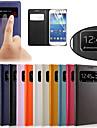 oryginalny widok okna skóry pu inteligentne auto-sleep przypadku całego ciała dla Samsung Galaxy S4 mini i9190 i9195 i9192