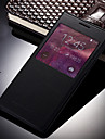 Kılıf Na Samsung Galaxy Grand Prime Z okienkiem / Auto uśpienie / włączenie / Flip Pełne etui Solidne kolory Skóra PU