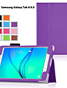 Kılıf Na Samsung Galaxy / Tab 8,0 / Tab 9.7 Z podpórką / Flip Pełne etui Solidne kolory Skóra PU