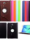 DE JI Kılıf Na Samsung Galaxy / Tab 8,0 / Tab 9.7 Samsung Galaxy Etui Z podpórką / Flip Pełne etui Solidne kolory Skóra PU na