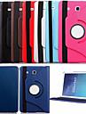 Kılıf Na Samsung Galaxy Samsung Galaxy Etui Z podpórką / Flip / Obrót 360° Pełne etui Solidne kolory Skóra PU na Tab E 9.6