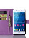 Kılıf Na Samsung Galaxy Samsung Galaxy Etui Etui na karty / Z podpórką / Flip Pełne etui Jendolity kolor Skóra PU na A8 / A7 / A5