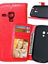 Kılıf Na Samsung Galaxy S5 Mini / S4 Mini / S4 Portfel / Etui na karty / Z podpórką Pełne etui Solidne kolory Skóra PU
