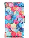 Kılıf Na Samsung Galaxy Samsung Galaxy Etui Portfel / Etui na karty / Z podpórką Pełne etui Wzór geometryczny Skóra PU na S6 edge plus / S6 / S5 Mini