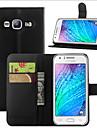 Kılıf Na Samsung Galaxy J7 (2016) / J7 / J5 (2016) Portfel / Etui na karty / Z podpórką Pełne etui Solidne kolory Skóra PU