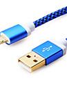 Micro USB Kable 1m-1.99m / 3ft-6ft Tworzywa sztuczne Adapter kabla USB Na Samsung