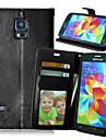 Kılıf Na Samsung Galaxy S6 edge plus / S6 edge / S6 Portfel / Etui na karty / Z podpórką Pełne etui Solidne kolory Skóra PU
