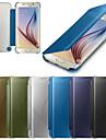 Kılıf Na Samsung Galaxy S6 edge plus / S6 edge / S6 Auto uśpienie / włączenie / Lustro / Flip Pełne etui Solidne kolory PC