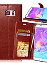 Kılıf Na Samsung Galaxy Note 5 / Note 4 / Note 3 Portfel / Etui na karty / Z podpórką Pełne etui Solidne kolory Skóra PU