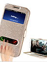 Kılıf Na Samsung Galaxy S4 Z podpórką / Z okienkiem / Flip Pełne etui Solidne kolory Skóra PU