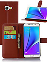 Kılıf Na Samsung Galaxy A3(2017) / A5(2017) / A7(2017) Etui na karty / Z podpórką / Flip Pełne etui Solidne kolory Skóra PU