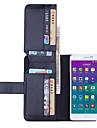 Na Samsung Galaxy Note Portfel / Etui na karty / Z podpórką / Flip Kılıf Futerał Kılıf Jeden kolor Skóra PU Samsung Note 4
