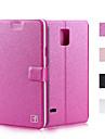 Kılıf Na Samsung Galaxy Note 5 / Note 4 / Note 3 Etui na karty / Z podpórką / Flip Pełne etui Solidne kolory Skóra PU