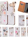 Kılıf Na Samsung Galaxy Note 5 / Note 4 / Note 3 Etui na karty / Kryształ górski / Z podpórką Pełne etui Połysk Skóra PU