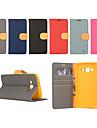 Kılıf Na Samsung Galaxy Xcover 3 / J7 / J5 Portfel / Etui na karty / Z podpórką Pełne etui Solidne kolory Skóra PU