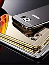 Kılıf Na Samsung Galaxy Samsung Galaxy Etui Galwanizowane / Lustro Czarne etui Jednolity kolor PC na S6 edge plus / S6 edge / S6
