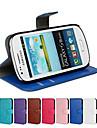 Kılıf Na Samsung Galaxy S3 Mini Etui na karty / Z podpórką / Flip Pełne etui Solidne kolory Skóra PU