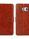 Kılıf Na Samsung Galaxy S7 Edge / S7 / S6 edge Portfel / Etui na karty / Z podpórką Pełne etui Solidne kolory Skóra PU