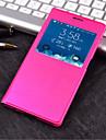 Kılıf Na Samsung Galaxy Samsung Galaxy Etui Z okienkiem / Flip Pełne etui Jendolity kolor Skóra PU na S6