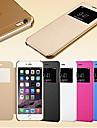 Kılıf Na iPhone 5 / Jabłko iPhone SE / 5s / iPhone 5 Z okienkiem / Auto uśpienie / włączenie / Flip Pełne etui Solidne kolory Twardość Skóra PU