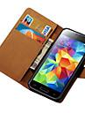 Kılıf Na Samsung Galaxy Samsung Galaxy Etui Etui na karty Portfel Z podpórką Flip Pełne etui Solid Color Skóra PU na S5 Mini
