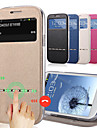 Kılıf Na Samsung Galaxy J7 / J5 Etui na karty / Z podpórką / Z okienkiem Pełne etui Solidne kolory Skóra PU