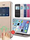 Kılıf Na Jabłko iPhone 8 Plus / iPhone 8 / iPhone 7 Plus Z podpórką / Z okienkiem / Flip Pełne etui Solidne kolory Twardość Skóra PU