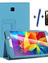 Kılıf Na Samsung Galaxy Tab 4 7.0 Z podpórką / Auto uśpienie / włączenie / Flip Pełne etui Solidne kolory Twardość Skóra PU