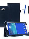 Kılıf Na Samsung Galaxy Tab 3 Lite Z podpórką / Auto uśpienie / włączenie / Flip Pełne etui Solidne kolory Twardość Skóra PU