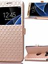Kılıf Na Samsung Galaxy S8 Plus / S8 / S7 Edge Etui na karty / Z podpórką / Z okienkiem Pełne etui Wzór geometryczny Skóra PU
