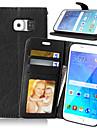 Kılıf Na Samsung Galaxy Samsung Galaxy S7 Edge Portfel Etui na karty Z podpórką Flip Pełne etui Solid Color Skóra PU na S7 edge S7 S6