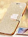 Kılıf Na Samsung Galaxy S8 Plus / S8 / S6 edge plus Etui na karty / Kryształ górski / Z podpórką Pełne etui Połysk Twardość Skóra PU