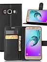 Kılıf Na Samsung Galaxy J5 (2016) Portfel / Etui na karty / Z podpórką Pełne etui Solidne kolory Skóra PU