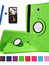 Kılıf Na Samsung Galaxy Tab E 9.6 Obrót 360° / Z podpórką / Flip Pełne etui Solidne kolory Twardość Skóra PU