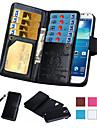 Coque Pour Samsung Galaxy Note 5 / Note 4 / Note 3 Portefeuille / Porte Carte / Clapet Coque Integrale Couleur Pleine faux cuir