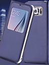 Kılıf Na Samsung Galaxy S7 Edge / S7 / S6 edge plus Z okienkiem / Auto uśpienie / włączenie / Flip Pełne etui Solidne kolory Skóra PU