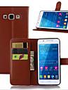 Kılıf Na Samsung Galaxy A7(2016) / A5(2016) / A3(2016) Etui na karty / Z podpórką / Flip Pełne etui Solidne kolory Skóra PU