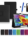 Kılıf Na Samsung Galaxy Tab 4 10.1 Z podpórką / Auto uśpienie / włączenie / Flip Pełne etui Solidne kolory Twardość Skóra PU