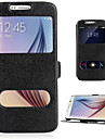 Kılıf Na Samsung Galaxy J7 Prime / J7 (2016) / J7 Z podpórką / Z okienkiem / Flip Pełne etui Solidne kolory Skóra PU