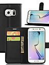 Kılıf Na Samsung Galaxy S8 Plus / S8 / S7 Edge Portfel / Etui na karty / Z podpórką Pełne etui Solidne kolory Skóra PU